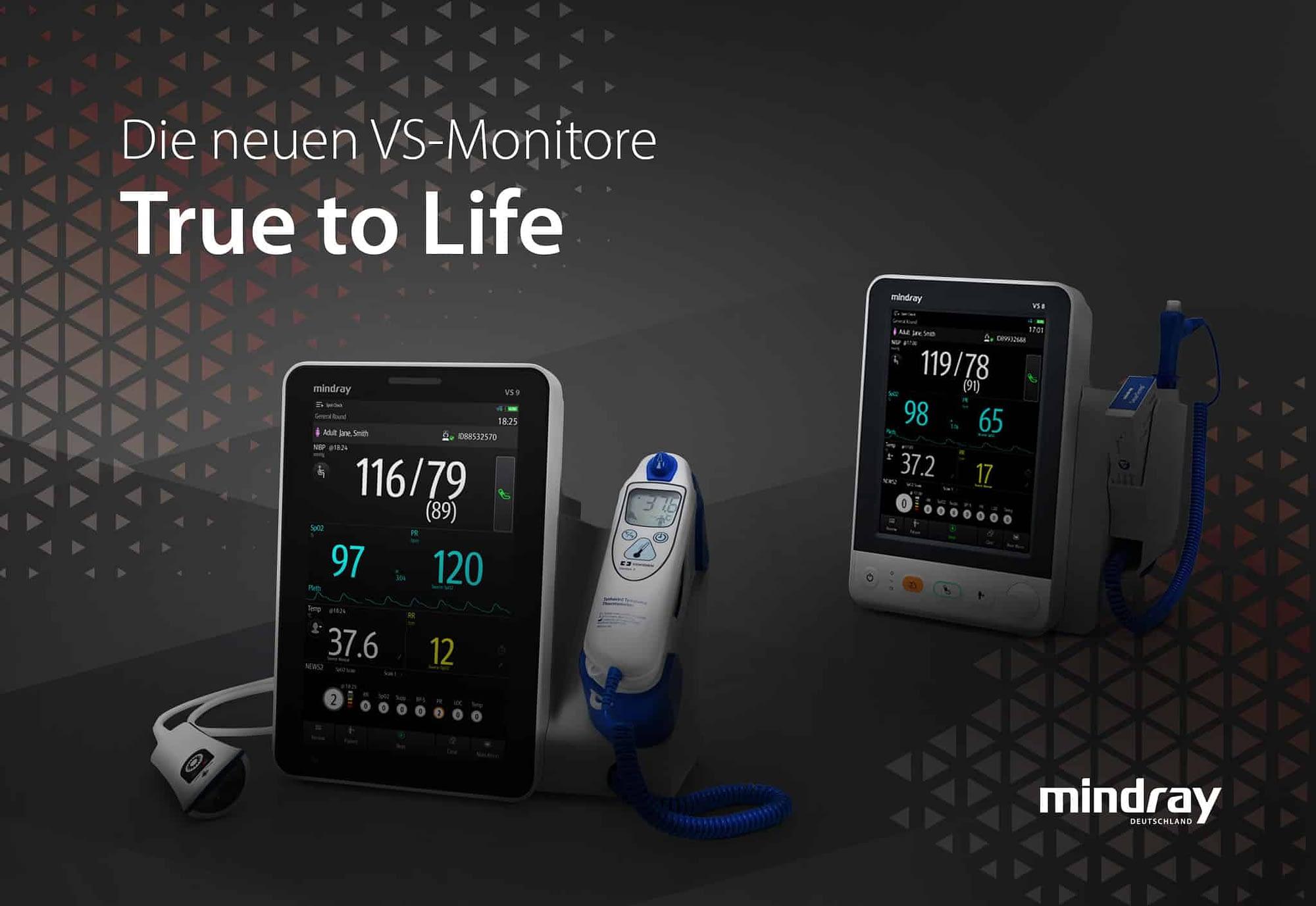 Mindray verändert die Spot-Check-Patientenüberwachung mit den neuen Vitaldatenmonitoren der VS-Serie